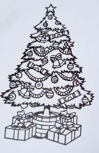 Colour in my Christmas Tree